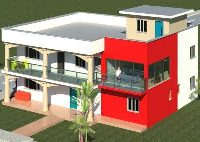 Duplex - 4 pièces avec toit terrasse - Yamoussoukro