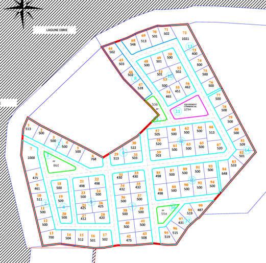 Plan de masse - Bingerville - Akouai Agban